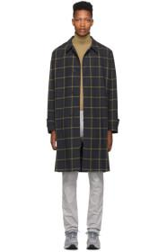 Paul Smith Navy & Yellow Check Oversized Coat