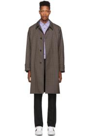 Paul Smith Navy & Brown Contrast Plaid Coat