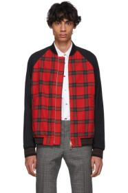 Paul Smith Red & Black Check Bomber Jacket