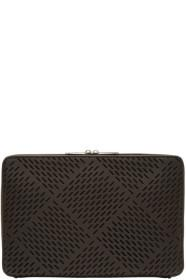 Bottega Veneta Brown Leather Perforated Document H
