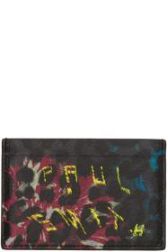Paul Smith Black Leopard Mix Card Holder