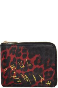 Paul Smith Black Leopard Mix Zip Wallet
