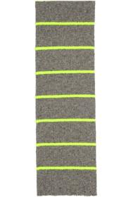 Paul Smith Grey & Yellow Neon Neutral Scarf