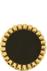 Bottega Veneta Gold & Black Signet Ring