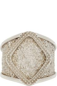 Bottega Veneta Silver Textured Ring