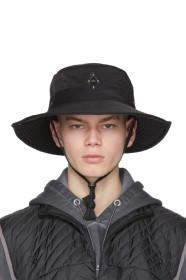 A-Cold-Wall* Black Side Snap Bucket Hat
