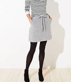 Brushed Knit Jogger Skirt