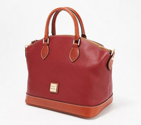 """As Is"" Dooney & Bourke Pebble Leather Carissa Sat"