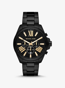 Michael Kors Oversized Wren Black-Tone Watch