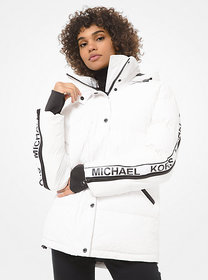 Michael Kors Logo Tape Puffer Jacket