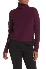 BCBGMAXAZRIA Ribbed Side-Tie Sweater