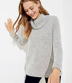 Boucle Cowl Neck Tunic Top