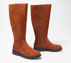 Clarks Unstructured Leather Tall Shaft Boots - Un