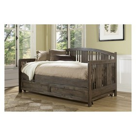 Dana Wood Daybed With Trundle Unit Twin Brushed Ac