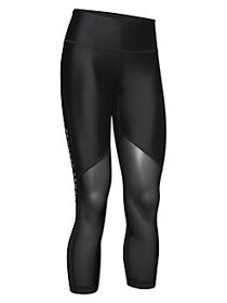 Under Armour High-Rise Cropped Leggings BLACK