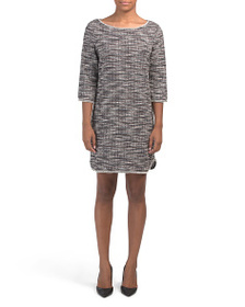 MAX STUDIO Knit Tweed Dress