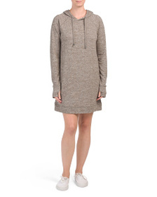 CG CABLE & GAUGE Hooded Knit Dress With Drawstring