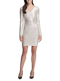 Guess Ruched Bodycon Dress CHAMPAGNE