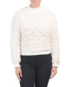 CUPIO Drop Shoulder Long Sleeve Pullover Sweater