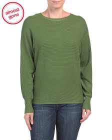 PHILOSOPHY Dolman Sleeve Top With Back Zipper