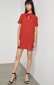 BCBG Tie Neck Shirt Dress