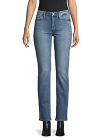7 For All Mankind High-Rise Straight Jeans BADESTI