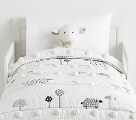 Pottery Barn Shelby Sheep Toddler Quilt