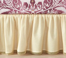 Pottery Barn Tulle Crib Skirt