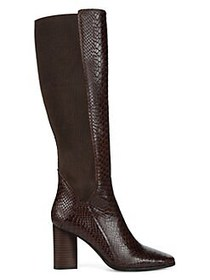 Donald J Pliner Gell Python-Printed Leather Boots