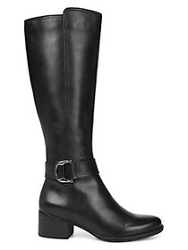 Naturalizer Kelso Leather Tall Boots BLACK