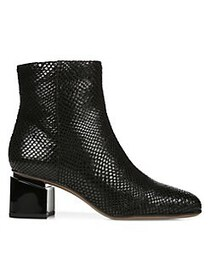 Franco Sarto Marquee Textured Leather Booties BLAC