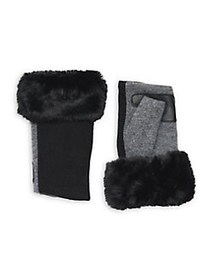 Echo Women's Wool & Cashmere Faux-Fur Fingerless G
