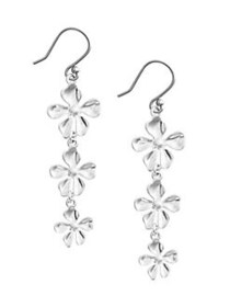 Lucky Brand Floral Chase Silvertone Floral Drop Ea