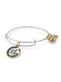 Alex and Ani Hand in Hand Two-Tone Charm Bangle Br