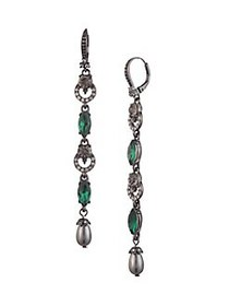 Marchesa Gunmetal-Tone Linear Drop Earrings GUNMET
