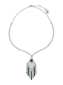 Vince Camuto Dream in Green Silvertone & Crystal T