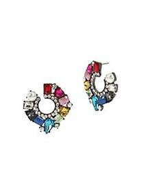 Betsey Johnson Multicolored Crystal & Faux Pearl S