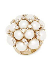 Kate Spade New York Goldtone and Faux Pearl Cluste