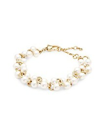 Kate Spade New York Goldtone and Faux Pearl Bracel