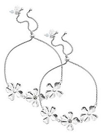 Lucky Brand Floral Chase 2-Piece Silvertone & Crys