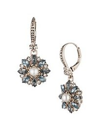 Marchesa Faux Pearl and Crystal Small Drop Earring
