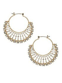 Marchesa Goldtone Fan Hoop Earrings GOLD