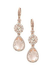 Marchesa Swarovski Crystal Double Drop Earrings RO