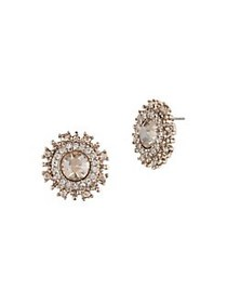 Marchesa Goldtone & Crystal Stud Earrings GOLD