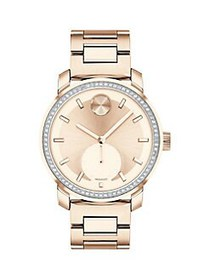 Movado Bold Rose Goldstone Stainless Steel Watch R