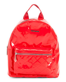 RAMPAGE Midi Quilted Patent Backpack