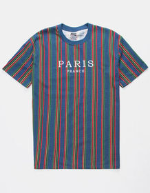 RSQ Paris Vert Striped Mens T-Shirt_