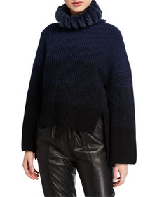 Fendi Ribbed Ombre Knit Sweater