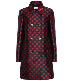 REDValentino Double-breasted jacquard coat