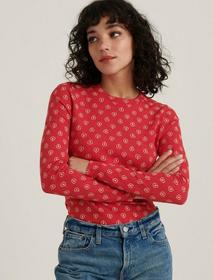 Lucky Brand Printed Crew Thermal
